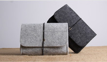 2016 latest design cheap Wool felt handmade accessories storage clutch handbag