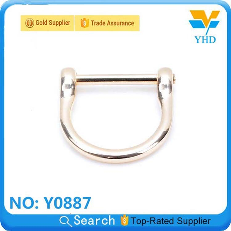 YHD the cheapest wholesale 2013 fashion brass metal square ring for leather bag/luggage/case/backpack accessory