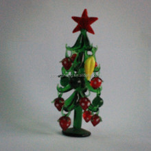 christmas table decoration glass christmas tree colorful glass tree