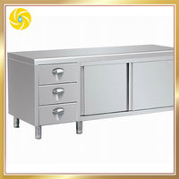Fabrication Commercial Free Standing Stainless Steel Kitchen Cabinet