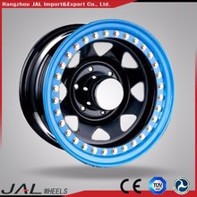 Blue Ring 5x165.1 Steel Rims Beadlock Wheels for Pickup Truck