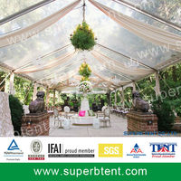 Waterproofing aluminum Frame Square Tent easy to install