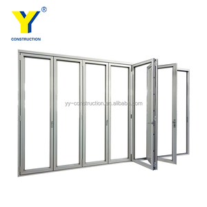 exterior prices large aluminium sliding folding garage accordion patio doors / folding doors/YY Windows Sydney