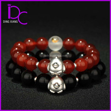 Red Agate Zodiac Chicken Rooster Bracelet