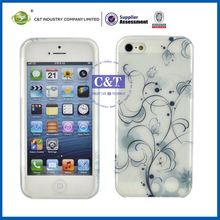 C&T Quality OEM flower cell phone tpu case for iphone 5""