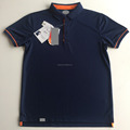 100% polyester uniform fashion men custom blue polo shirt uniform