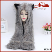 Fashion And Sexy Grey Furry Animal Faux Fur Hat