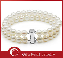 Graceful 925 Sterling Silver Fashion Jewelry Freshwater Pearl Bracelet