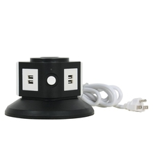 110V AC Socket Electric Tower For Table With USB Power Outlet Charging Port USA