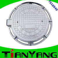 high quality EN124 ductile iron circular manhole cover/water wells coverwith locking made in China