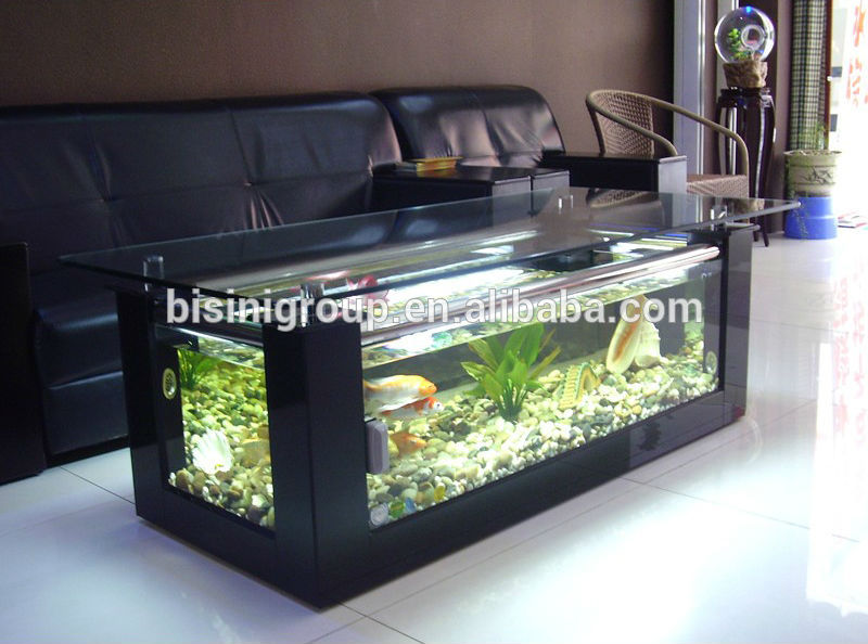 modern style acrylic rectagle coffee table aquarium fish. Black Bedroom Furniture Sets. Home Design Ideas