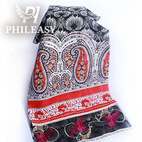 PHILEASY 2012 NEW STYLE cotton screen printed fabric with embroidered and lace