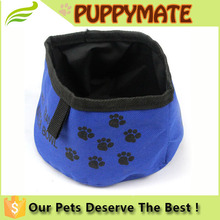 Easy to carry foldable Waterproof oxford collapsible dog travel bowl direct supplier