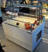 Pastry top open display refrigerator sushi display cooler