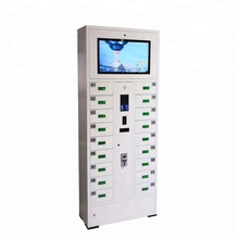Public usage coin operated locker cell phone charging station