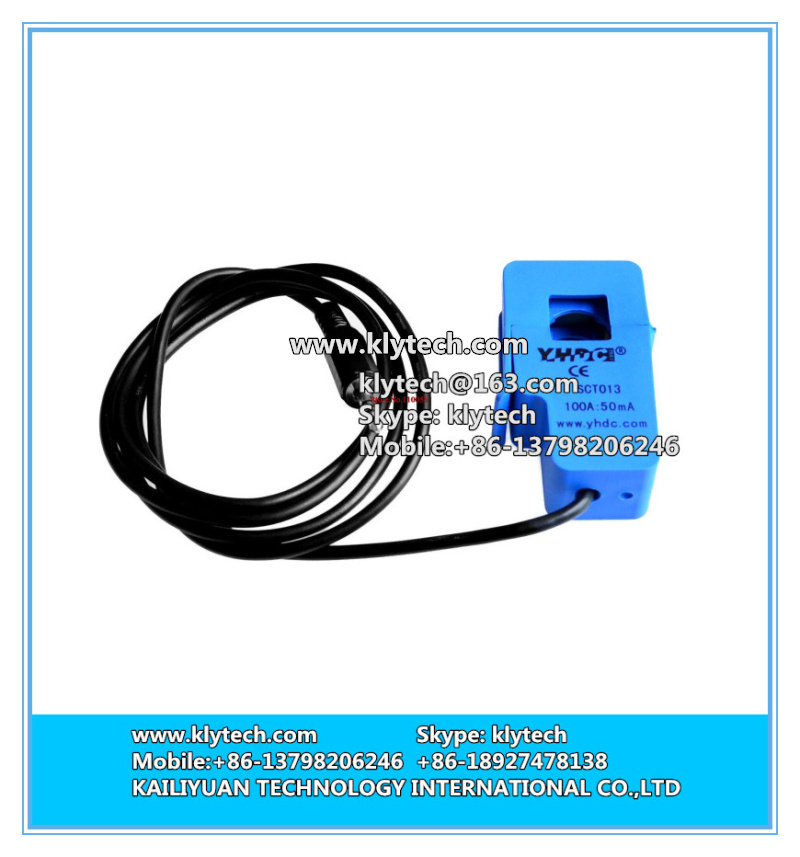 Hot sale! Non-invasive Split Core Current Transformer AC current sensor 100A SCT-013-000