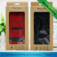 Luxury mobile phone case paper box /kraft mobile phone cover paper box packaging