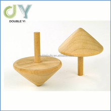 Kids Traditional Toys , Natural Color Wooden Spinning Tops