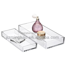 Clear acrylic cosmetic display makeup organizer perfume holder
