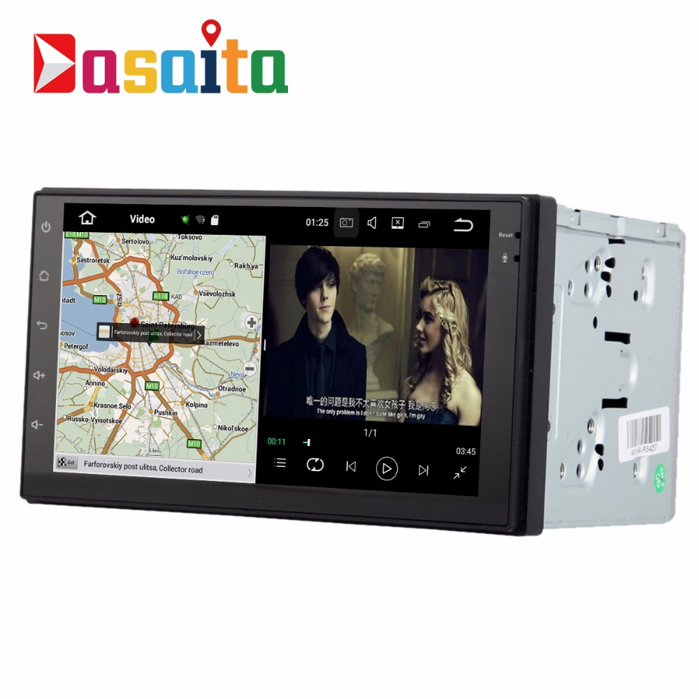 DASAITA Android 7.1 7 inch touch screen double din car stereo universal car dvd <strong>player</strong> with navigation gps HDI output Quad Core