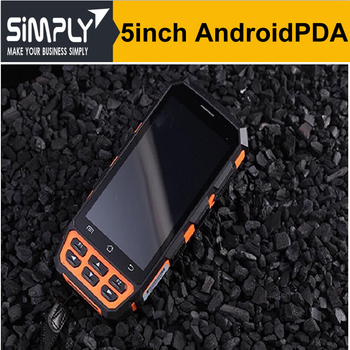 SIMPLY T5 IP65 outdoor Rugged Android handheld device with 2d barcode scanner for retail