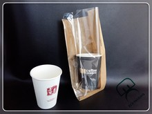 Oil-proof kraft paper bag with clear window for food use