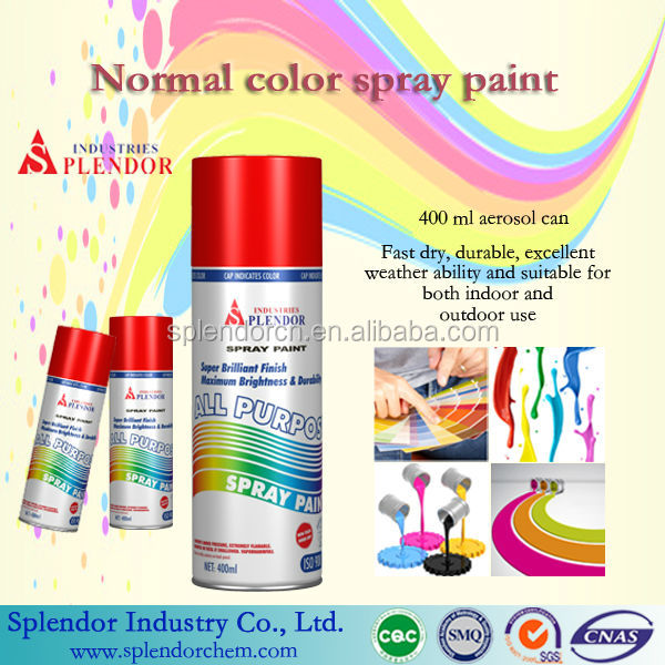 High quality china Spray Paint for furniture/ graffiti spray paint/ water soluble spray pain