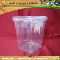 PET plastic type food use clear plastic cylinder container