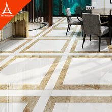 Carrara Ivory White Foshan Full Polished Vitrified Porcelain floor tiles