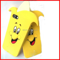 silicone case for mobile phone with cheap price,cute banana shape mobile phone fancy case