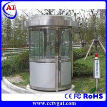 Safe portable steel structure police sentry box steel sentry house