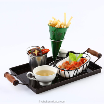 Food grade Cheaper Price Table Top Metal Tray 330x220x24mm F0114