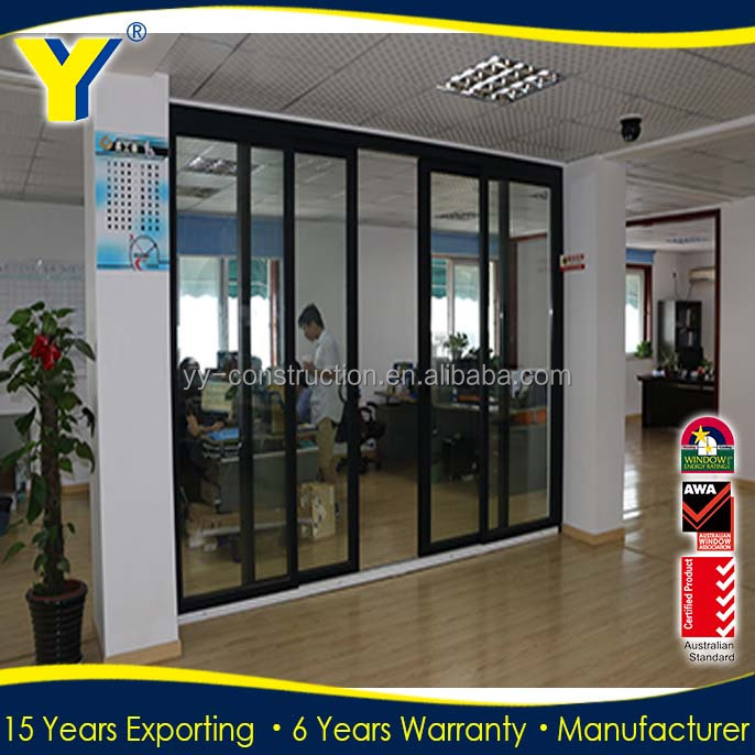 Australian standard AS2047 certified glass office entry doors/commercial glass entry door