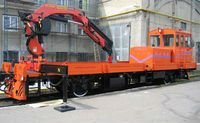 Railcar AMV with drilling equipment
