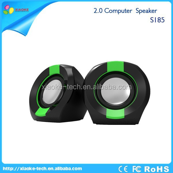 popular selling products Colorful shapes live sound 2.0 USB subwoofer computer speaker with tweeter