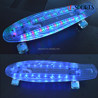27 cruiser plastic skateboard led deck skateboard