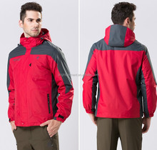 men outdoor and camping jacket with removable & windproof cap