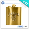 zeal 8OZ gold hip flask HF5008