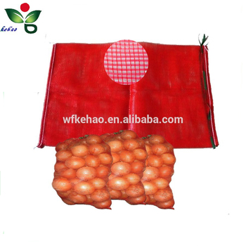 Recyclable Tubular plastic mesh bag for onion potatoes