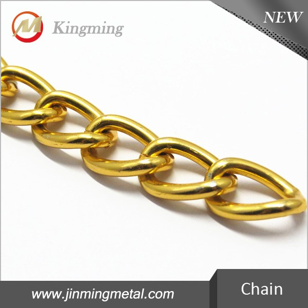 Gold Decorative Metal Chain For Leather Handbag