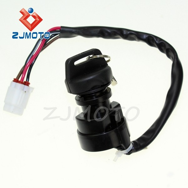 ZJMOTO MOTORCYCLE Ignition Key Switch YFM400 YFM 400 Kodiak 4WD 2003 2004 2005 2006 Motorbike