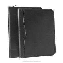Litchi Patter Leather Foam Padded File Document Portfolio