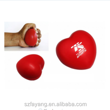 2018 New Arrvial PU Soft Heart Shaped Stress Ball Toys For kids and Adult Hot Sale Factory Made Cheap