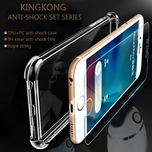 Atouchbo King Kong Armor Phone Case Mobile Phone Accessories For Iphone 7 / 7plus Clear Case