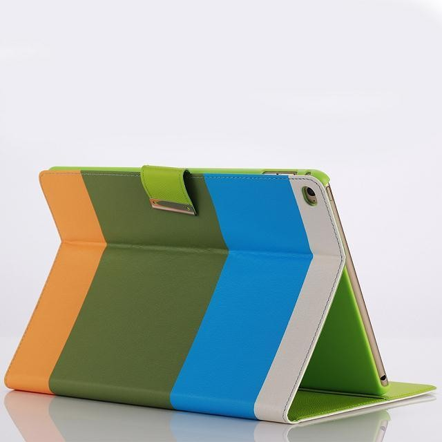 Colourful With Credit Card Holder Stand PU Leather Case For iPad Air 2