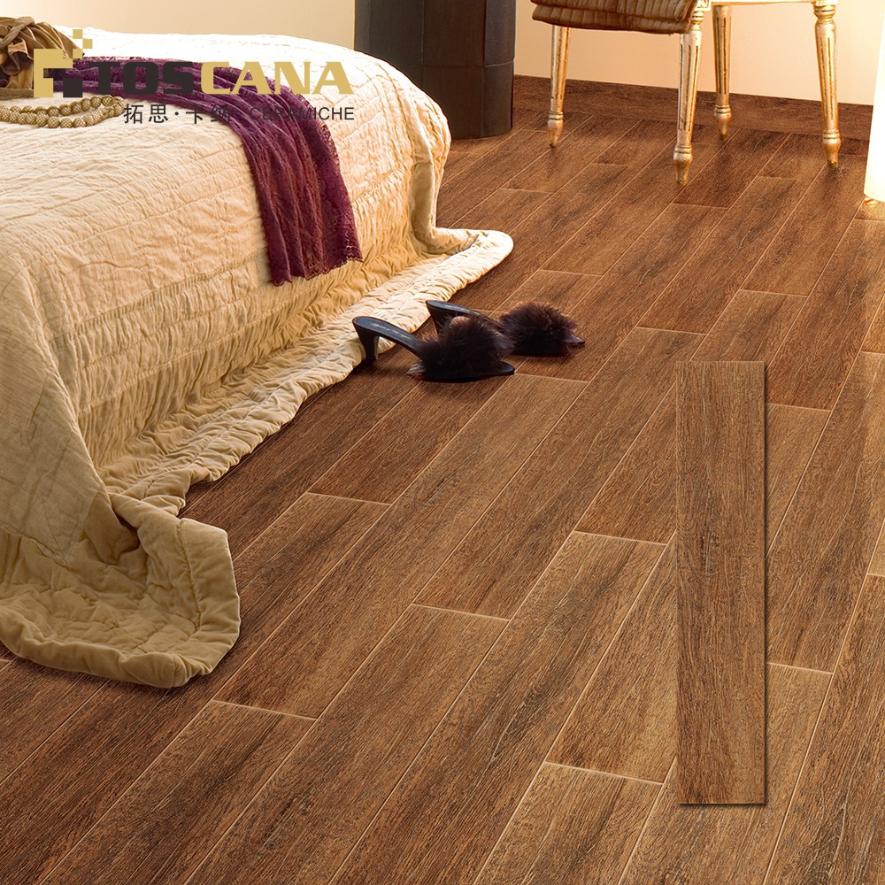 Non slip wood look porcelain tile wood color ceramic floor for Hardwood floors slippery