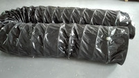 500mm black air conditioning pvc duct,ventilating duct,marine flexible duct