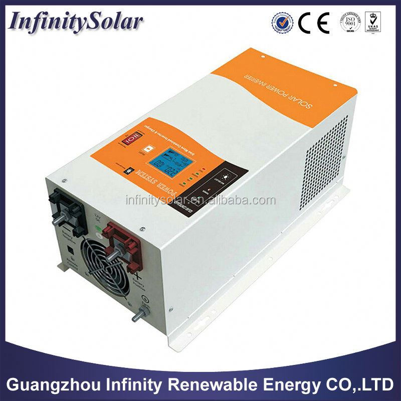 For wind/'solar systems using utility power as back up inverter with MPPT solar controller Max 30A-60A