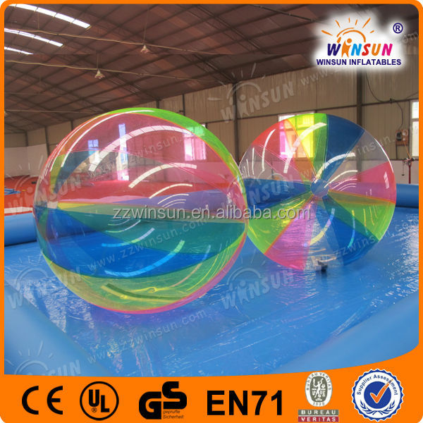 Funny water human ball,colored hard cheap human plastic ball