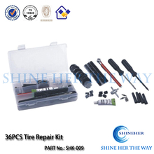36pcs tubeless tire repair kit with professional supplier